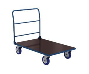Platform trolley PT with one handle